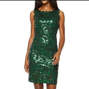 Green Sequin Cocktail Dress Size 6